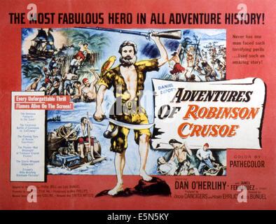 THE ADVENTURES OF ROBINSON CRUSOE, (aka LAS AVENTURAS DE ROBINSON CRUSOE), Dan O'Herlihy, 1954 - Stock Photo