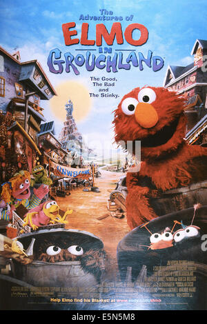 THE ADVENTURES OF ELMO IN GROUCHLAND, Elmo (right), 1999, © Columbia/courtesy Everett Collection - Stock Photo