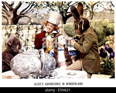 ALICE'S ADVENTURES IN WONDERLAND, Davy Kaye, Robert Helpmann, Fiona Fullerton, Peter Sellers, 1972 - Stock Photo