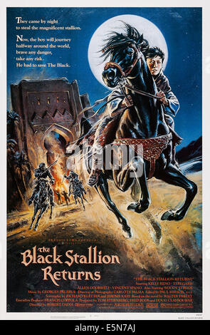 THE BLACK STALLION RETURNS, U.S. poster, Kelly Reno, 1983. ©MGM/UA Entertainment Company/courtesy Everett Collection - Stock Photo