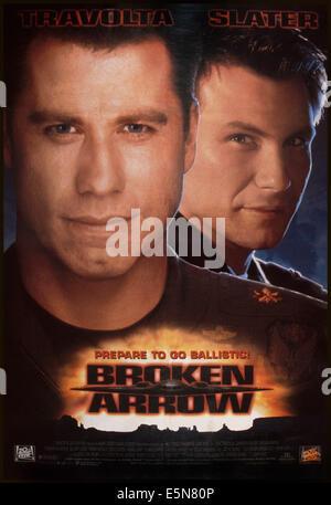 BROKEN ARROW, U.S. poster, from left: John Travolta, Christian Slater, 1996. TM and Copyright © 20th Century Fox - Stock Photo