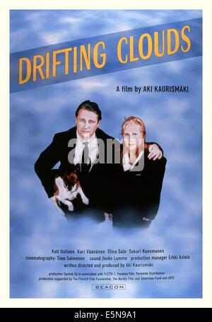 DRIFTING CLOUDS, (aka KAUAS PILVET KARKAAVAT), from left: Kari Vaananen, Kati Outinen, 1996, © Sputnik/courtesy - Stock Photo