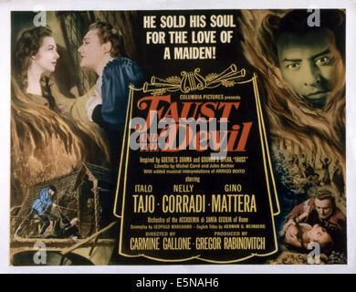 FAUST AND THE DEVIL, (aka LA LEGGENDA DI FAUST), top from left: Nelly Corradi, Gino Mattera, Italo Tajo, 1950 - Stock Photo