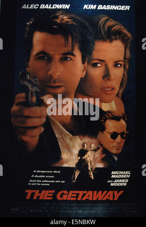 THE GETAWAY, from left: Alec Baldwin, Kim Basinger, James Woods, 1994, © Universal/courtesy Everett Collection - Stock Photo