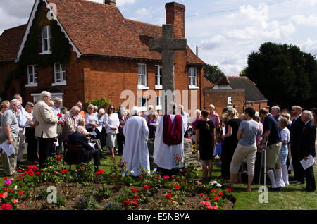 Great Bardfield, Braintree, Essex, UK. 4th August 2014. Commemoration of the centenary of the start of the first - Stock Photo