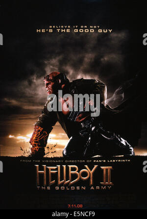 HELLBOY II: THE GOLDEN ARMY, Ron Perlman, 2008, © Universal/courtesy Everett Collection - Stock Photo