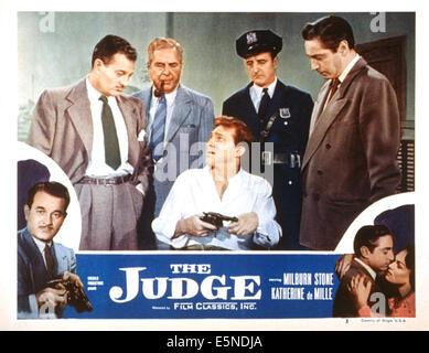 THE JUDGE, Milburn Stone, John Hamilton, Norman Budd, Stanley Waxman, 1949 - Stock Photo