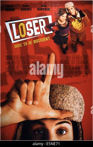LOSER, U.S. poster, foreground: Jason Biggs; top right: Mena Suvari, Jason Biggs,  2000, © Columbia/courtesy Everett - Stock Photo