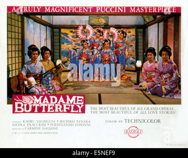 MADAME BUTTERFLY, lobbycard, 1954 (US release 1956) - Stock Photo