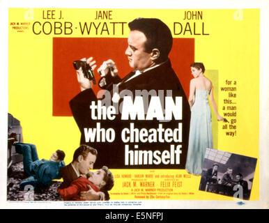 THE MAN WHO CHEATED HIMSELF, John Dall, Lee J Cobb, Jane Wyatt, Alan Wells, 1950, TM and Copyright ©20th Century - Stock Photo