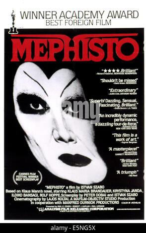 MEPHISTO, Klaus Maria Brandauer, 1981 - Stock Photo