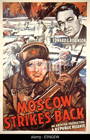 MOSCOW STRIKES BACK, Edward G. Robinson, 1942 - Stock Photo