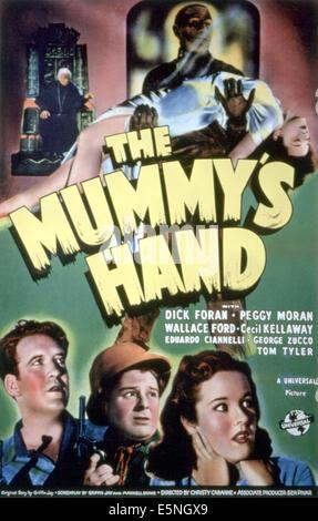 THE MUMMY'S HAND, Tom Tyler, 1940. - Stock Photo