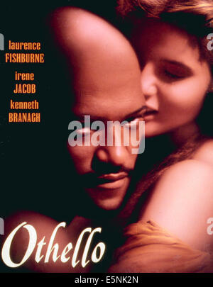 OTHELLO, Laurence Fishburne, Irene Jacob, 1995. © Columbia Pictures/ Courtesy: Everett Collection - Stock Photo