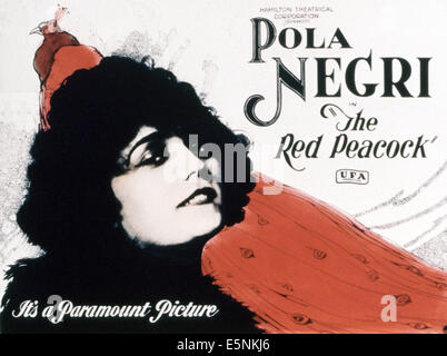 THE RED PEACOCK, (aka ARME VIOLETTA), US poster, Pola Negri, 1921 - Stock Photo