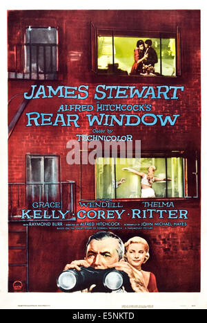 REAR WINDOW, Grace Kelly, James Stewart, 1954. - Stock Photo