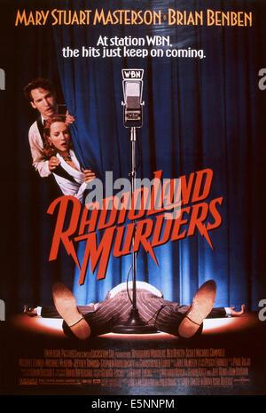 RADIOLAND MURDERS, US poster, from left: Brian Benben, Mary Stuart Masterson, 1994, © Universal/courtesy Everett - Stock Photo