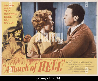 SERIOUS CHARGE, (aka A TOUCH OF HELL), US poster, center from left: Sarah Churchill, Anthony Quayle, 1959 - Stock Photo