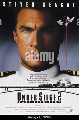 UNDER SIEGE 2: DARK TERRITORY, US poster art, Steven Seagal, 1995. ©Warner Bros./courtesy Everett Collection - Stock Photo