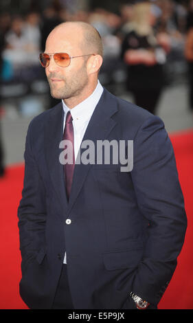 London, UK, UK. 3rd Aug, 2014. Jason Statham attends the World Premiere of '' The Expendables 3'' at Odeon Leciester - Stock Photo