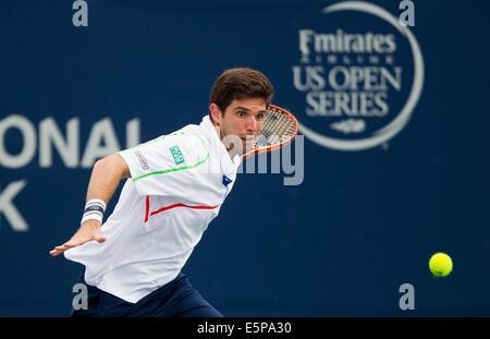 Toronto, Canada. 4th Aug, 2014. Novak Djokovic (L) of ...