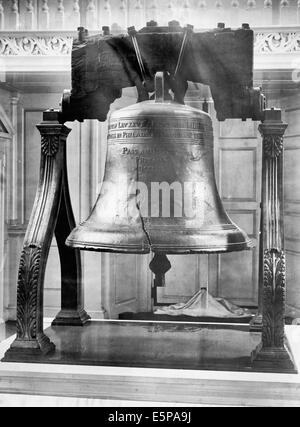 Liberty Bell, Independence Hall, Philadelphia, Pennsylvania, circa 1901 - Stock Photo
