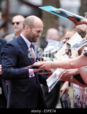 Jason Statham attends the World Premiere of The Expendables 3 on 04/08/2014 at ODEON Leicester Square, London. Persons - Stock Photo