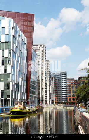 View of the new Paddington Basin development in West London. UK. - Stock Photo