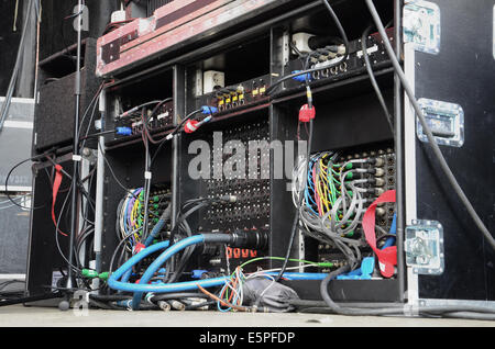 stage equipment at concert - Stock Photo