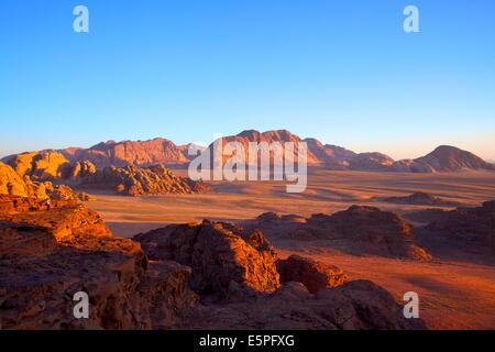 Tourist at Wadi Rum, Jordan, Middle East - Stock Photo