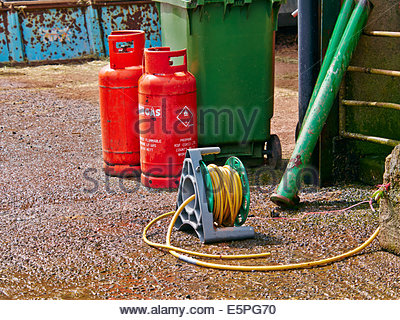 Propane gas cylinders Stock Photo, Royalty Free Image ...