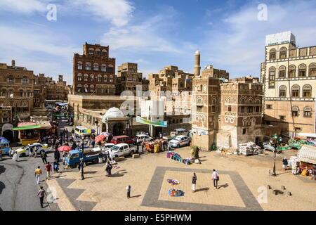 The Old Town, UNESCO World Heritage Site, Sanaa, Yemen, Middle East - Stock Photo