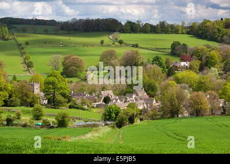 Upper Slaughter, Cotswolds, Gloucestershire, England, United Kingdom, Europe - Stock Photo