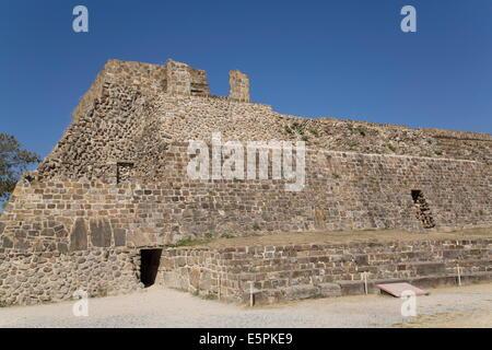 Building L, Monte Alban, UNESCO World Heritage Site, Oaxaca, Mexico, North America - Stock Photo