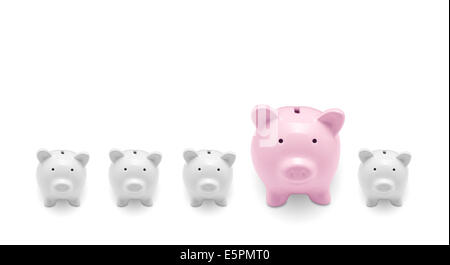 Piggy banks isolated on white background