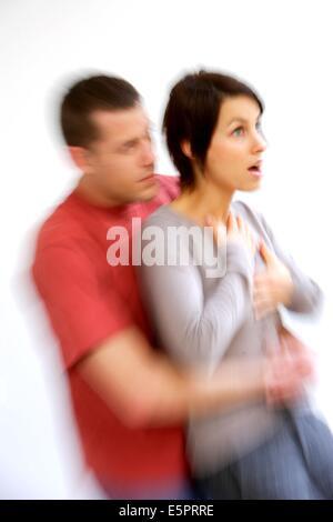 Heimlich maneuver step 1 stock photo. Image of choking