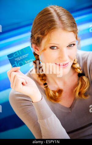 Donorcard from the Biomedicine Agency, France. - Stock Photo