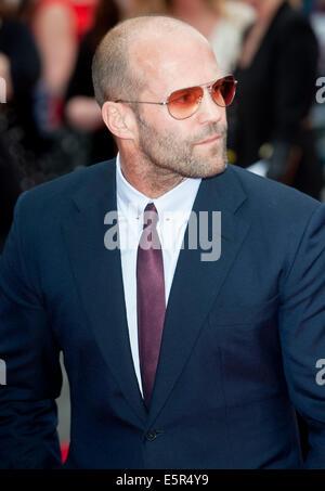 London, UK. 4th Aug, 2014. Jason Statham The Expendables 3 World Premier  attends The Expendables 3 World Premiere, - Stock Photo
