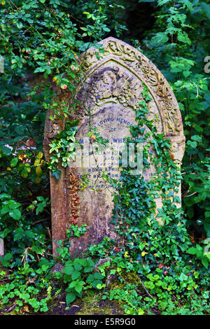 Graves in the Graveyard of Highgate Cemetery, London, England. - Stock Photo