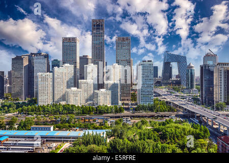 Beijing, China financial district cityscape. - Stock Photo