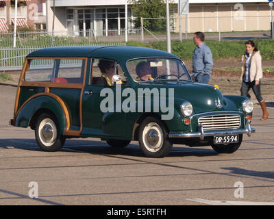 1970 Morris Minor Traveller, Dutch licence registration DR-55-94, pic2 - Stock Photo