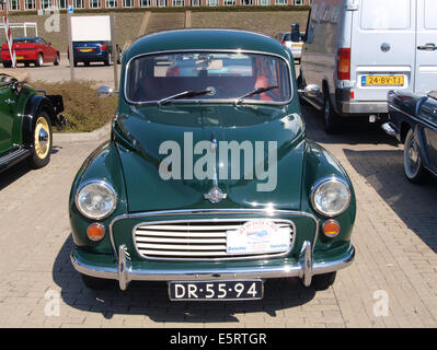1970 Morris Minor Traveller, Dutch licence registration DR-55-94, pic4 - Stock Photo