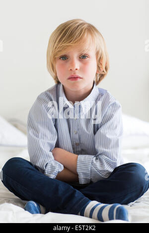 7 year old boy. - Stock Photo