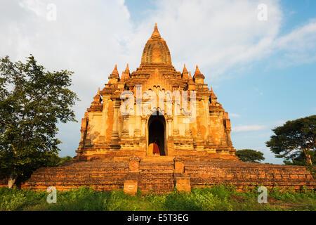 South East Asia, Myanmar, Bagan, temples on Bagan plain - Stock Photo