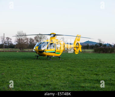 Dorset and Somerset air ambulance helicopter - Stock Photo