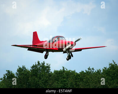 G-ORJW Laverda F8L Falco IV , landing at Hilversum Airport (ICAO EHHV), photo1 - Stock Photo