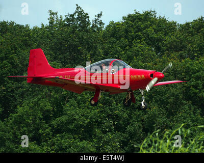 G-ORJW Laverda F8L Falco IV , landing at Hilversum Airport (ICAO EHHV), photo2 - Stock Photo
