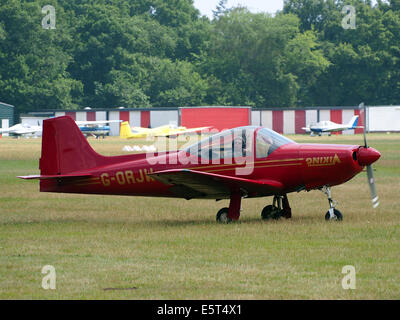 G-ORJW Laverda F8L Falco IV , takeoff from Hilversum Airport (ICAO EHHV), photo2 - Stock Photo