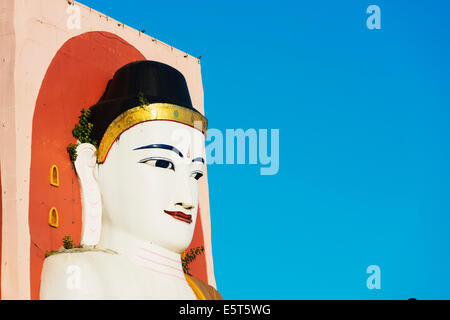 South East Asia, Myanmar, Bago, Four Faces paya, Kyaik Pun Paya, Gautama Buddha, built by King Dhammazedi in 1476 - Stock Photo