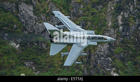 RAF Panavia Tornado GR4 flying low level fling area seven (LFA 7) Mach Loop - Stock Photo
